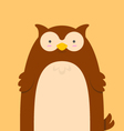 cute big fat brown owl vector image vector image