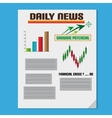 Daily Investment News With Graph And Text vector image