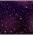dark blue and violet starry sky vector image vector image