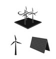 design of energy and solar icon collection vector image