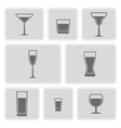 different glasses icons vector image vector image