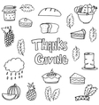 Doodle of object thanksgiving vector image vector image