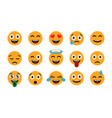 emoticons set emoji smile icons isolated vector image vector image