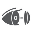 eye lens glyph icon vision and care contact lens vector image
