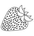 figure delicious strawberry fruit icon vector image vector image