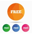 Free sign icon Special offer symbol vector image