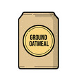 ground oatmeal bag vintage icon vector image