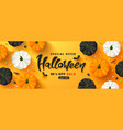 halloween sale promotion poster with pumpkins vector image vector image