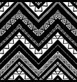 hand drawn pattern zigzag and stripe line vector image vector image