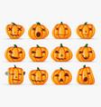 happy halloween pumpkin realistic decoration vector image vector image