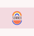 hello summer banner design with watermelon vector image vector image