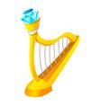 icon harp vector image vector image