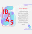 ideas vibrant gradient poster template vector image