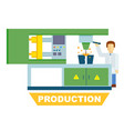 industrial production isolated concept vector image vector image