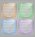 infographic template glassy square vector image