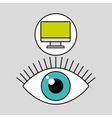 internet security computer protection vector image vector image