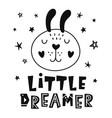 little dreamer scandinavian childish poster vector image vector image