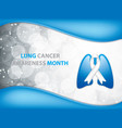 lung cancer vector image vector image