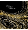 Luxury festive background with shiny golden vector image vector image