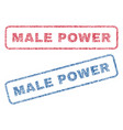 male power textile stamps vector image vector image