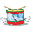 money eye toy drum character cartoon vector image vector image
