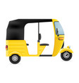 motor rickshaw tuk-tuk indian taxi transport vector image