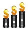 Oil Barrels and Dollar vector image