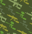 paintball guns Silhouette seamless pattern vector image vector image