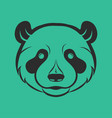 panda logo icon design vector image