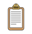 paper clipboard isolated icon vector image vector image
