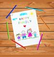 parents holding hands children happy family vector image vector image