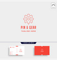 pin gear logo navigator simple icon symbol sign vector image vector image