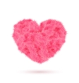 Pink fur heart for Your Valentine design vector image vector image