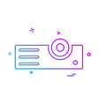 projector icon design vector image