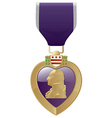 Purple Heart vector image