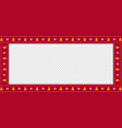 red christmas or new year rectangle border frame vector image