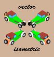 retro car in isometric vector image vector image
