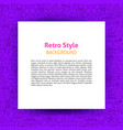 retro style paper template vector image vector image