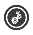 Round black settings sign vector image