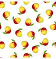 seamless mango pattern vector image vector image