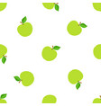 seamless pattern with falling green apples vector image vector image