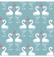Seamless pattern with swans vector image vector image