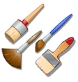 Set of four different brushes for painting vector image vector image