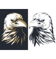 silhouette bald eagle head isolated logo ma vector image vector image