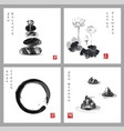 symbol of zen zen balance enso zen circle lotus vector image vector image