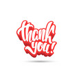 thank you calligraphy hand lettering vector image