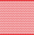 tile red and white knitting pattern vector image