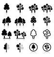 Trees forest park icons set vector image
