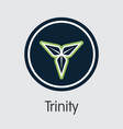 trinity cryptocurrency tty web icon vector image