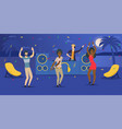 tropical beach party with dancing people vector image